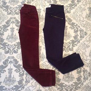 2 Cute and Colorful Jeggings sz 6X